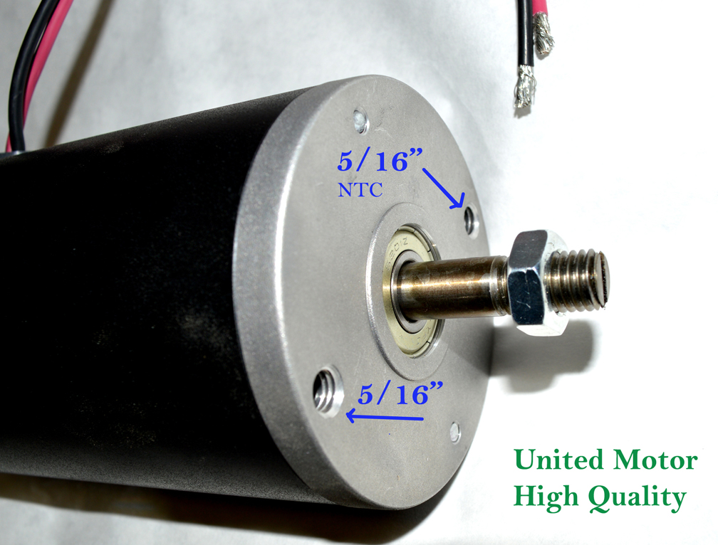 POWERFUL ONE HP DC MOTORS 12 volt D.C. MOTOR permanent magnet DS 12 VDC 12,24 48 90 120, 208 220 240 1 hp