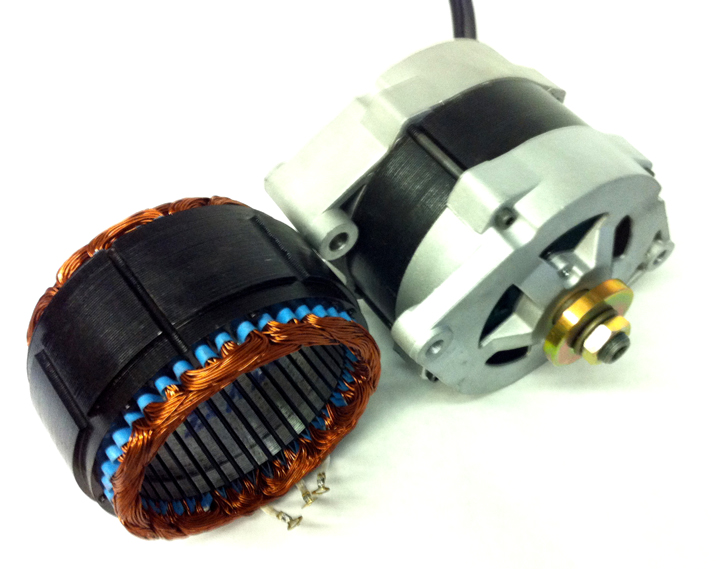Car Alternator Wind Generator : Watt pma pmg vac dual wide core permanent